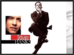 Tom Hanks, czarny garnitur